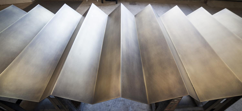 Brass panel wall sculpture by Synecdoche Design Studio for Rapt Studio
