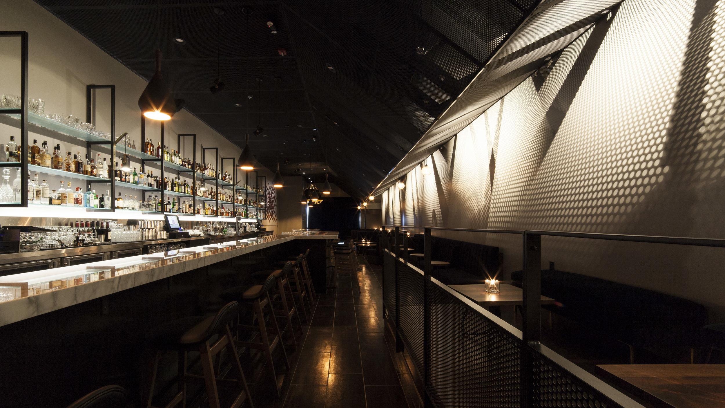 Nightcap Ann Arbor bar interior design by Synecdoche Design Studio