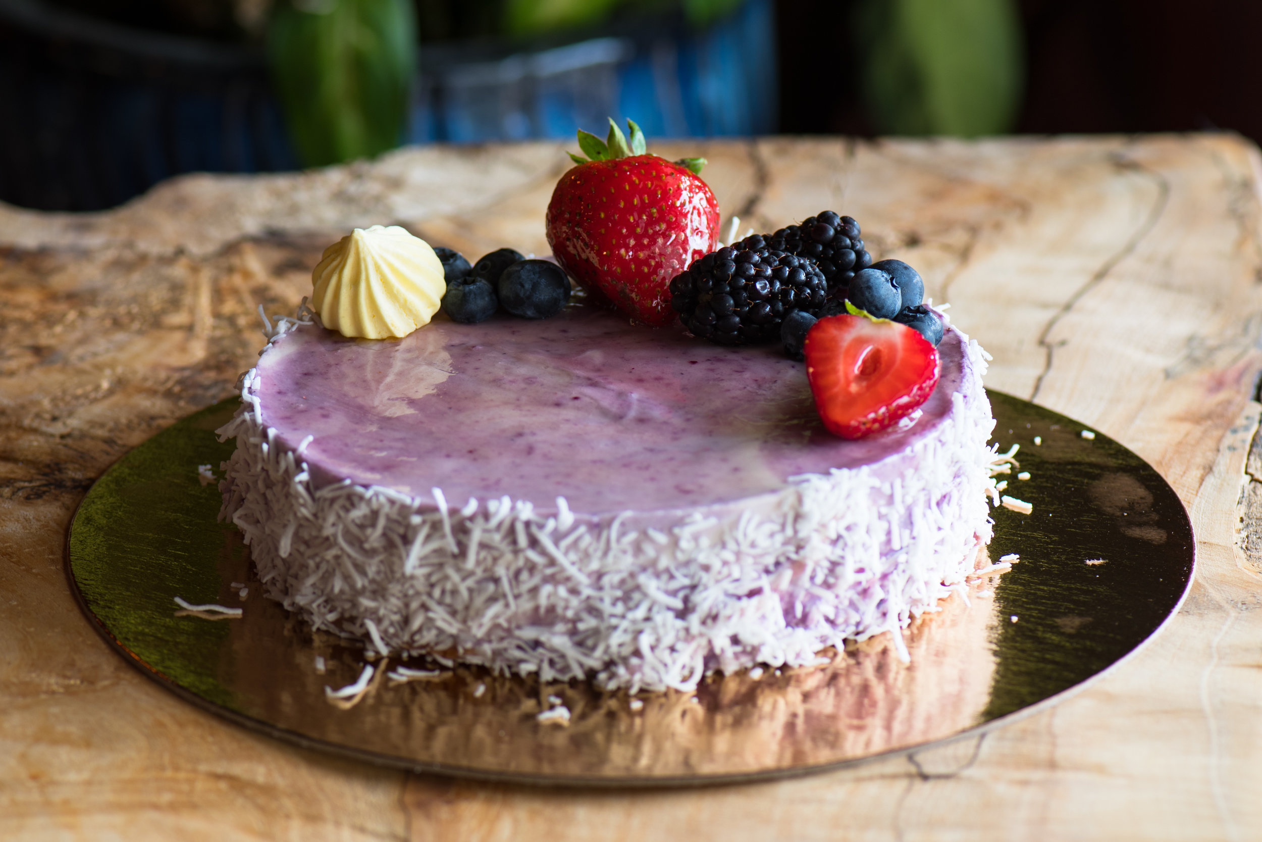 Cheesecake - Flavour and style changes weekly.Small (6-slice) /// 30.00Large (10-12 slice) /// 48.00