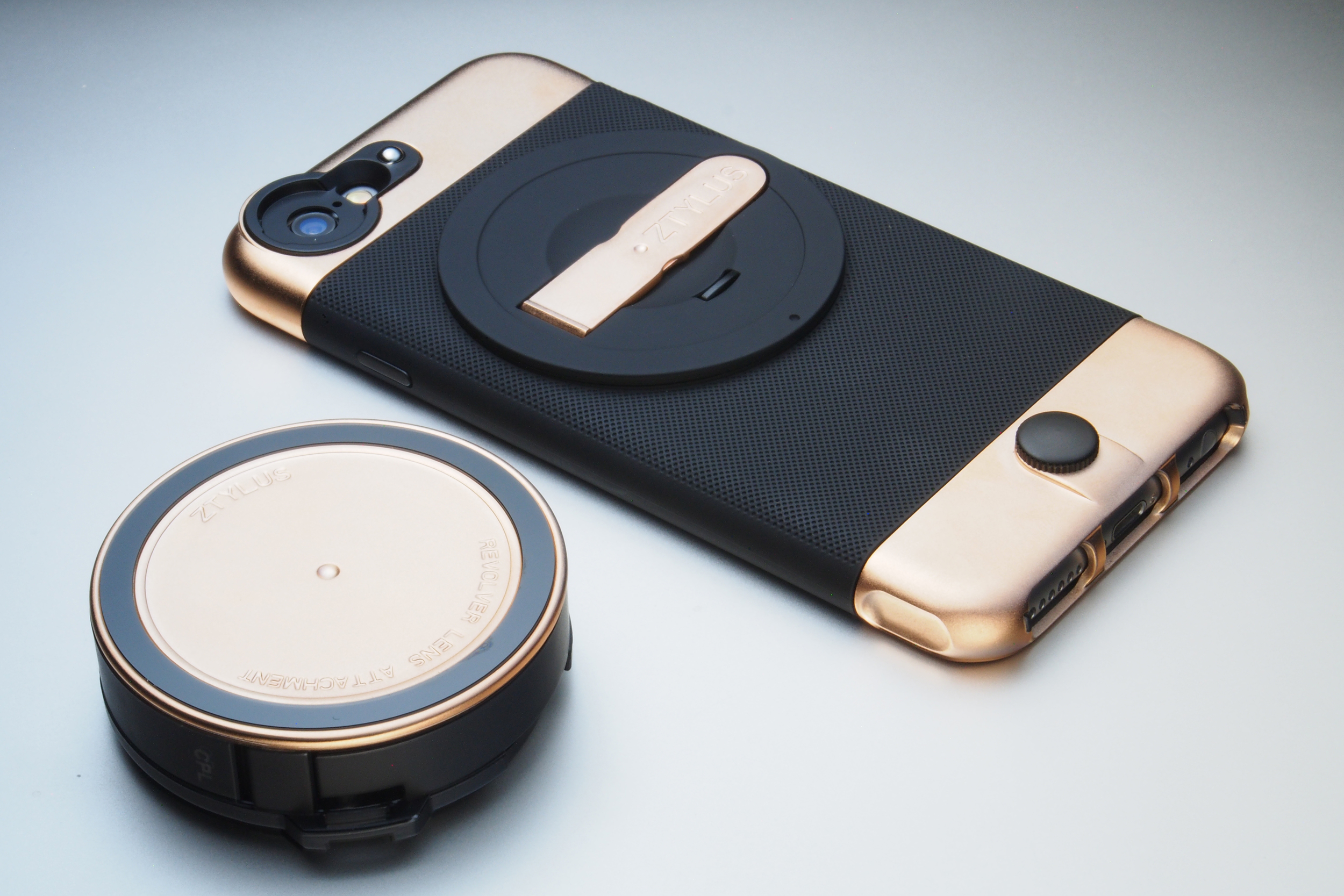 ZTYLUS Rose Gold Case & Lens Separate.JPG