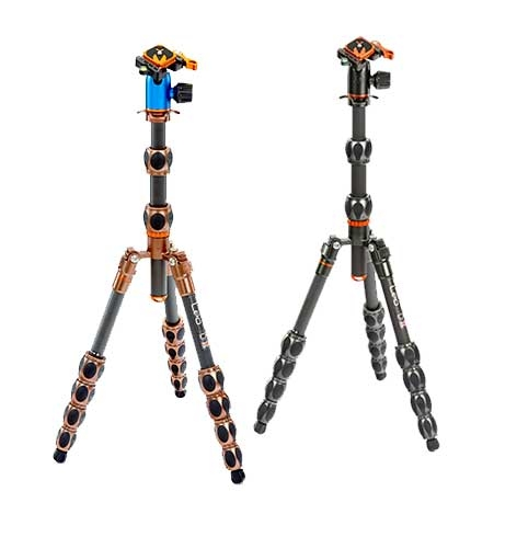 LEO - Our micro-traveler tripod - compact, powerfully strong, carbon fibre and multi-functional, with a load capability of 30kg.