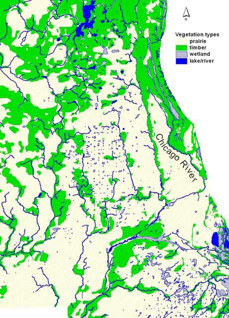 Ecosystem Map from the Morton Arboretum  Courtesy of Jeanette McBride–Morton Arboretum.