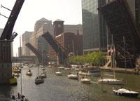 Bridges Make Way for Sailboats in the Spring, Main Stem, Chicago River  Courtesy of David Solzman