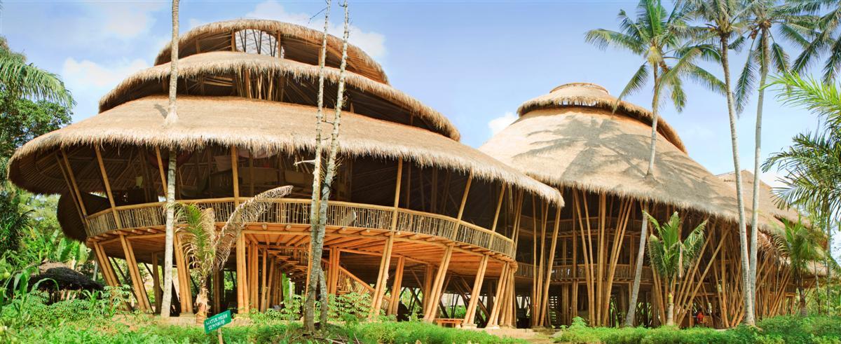 External photograph of the Green School Bali