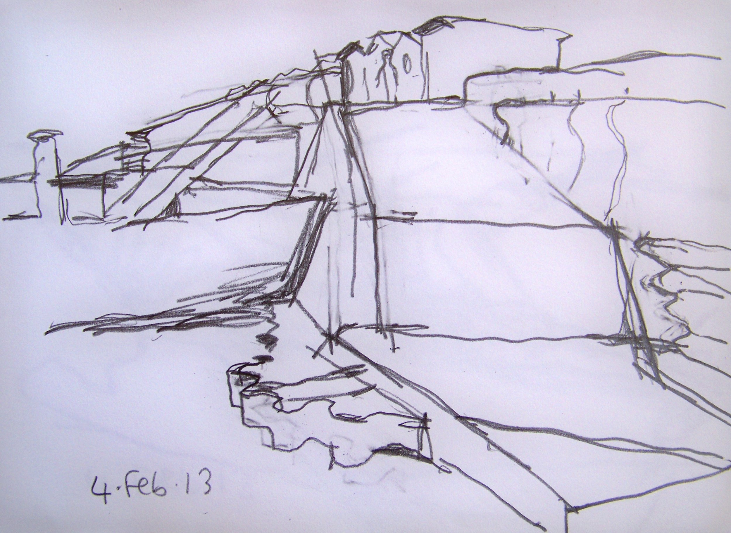 Seawall drawing, 2013
