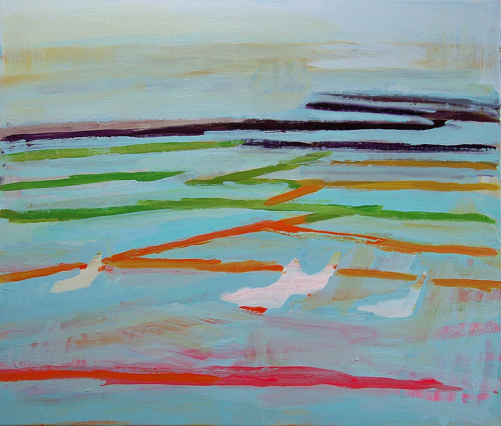 Bright Winter Sea with Gulls, 2011