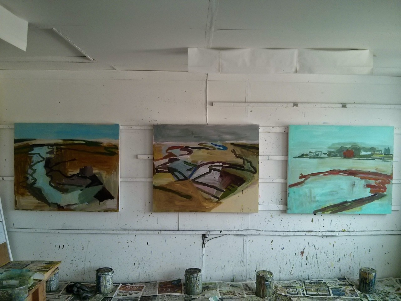 A few paintings that I have been working on this week.