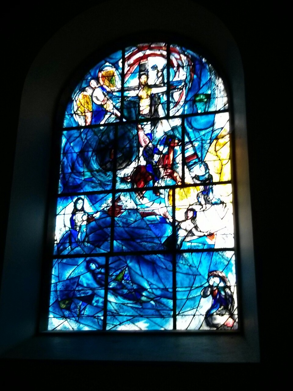Weekend away; visited All Saints Church at Tudeley in Kent to see the beautiful cycle of Chagall glass