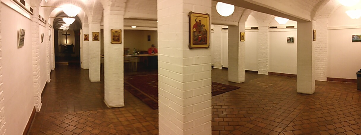 This is a view of the Crypt Hall at St. Marylebone Church where I am currently exhibiting as part of the Contemporary British Painting series. I am showing the series of small paintings of clouds over the sea that I made last winter and a few transcripts from Constable. See  www.contemporarybritishpainting.com