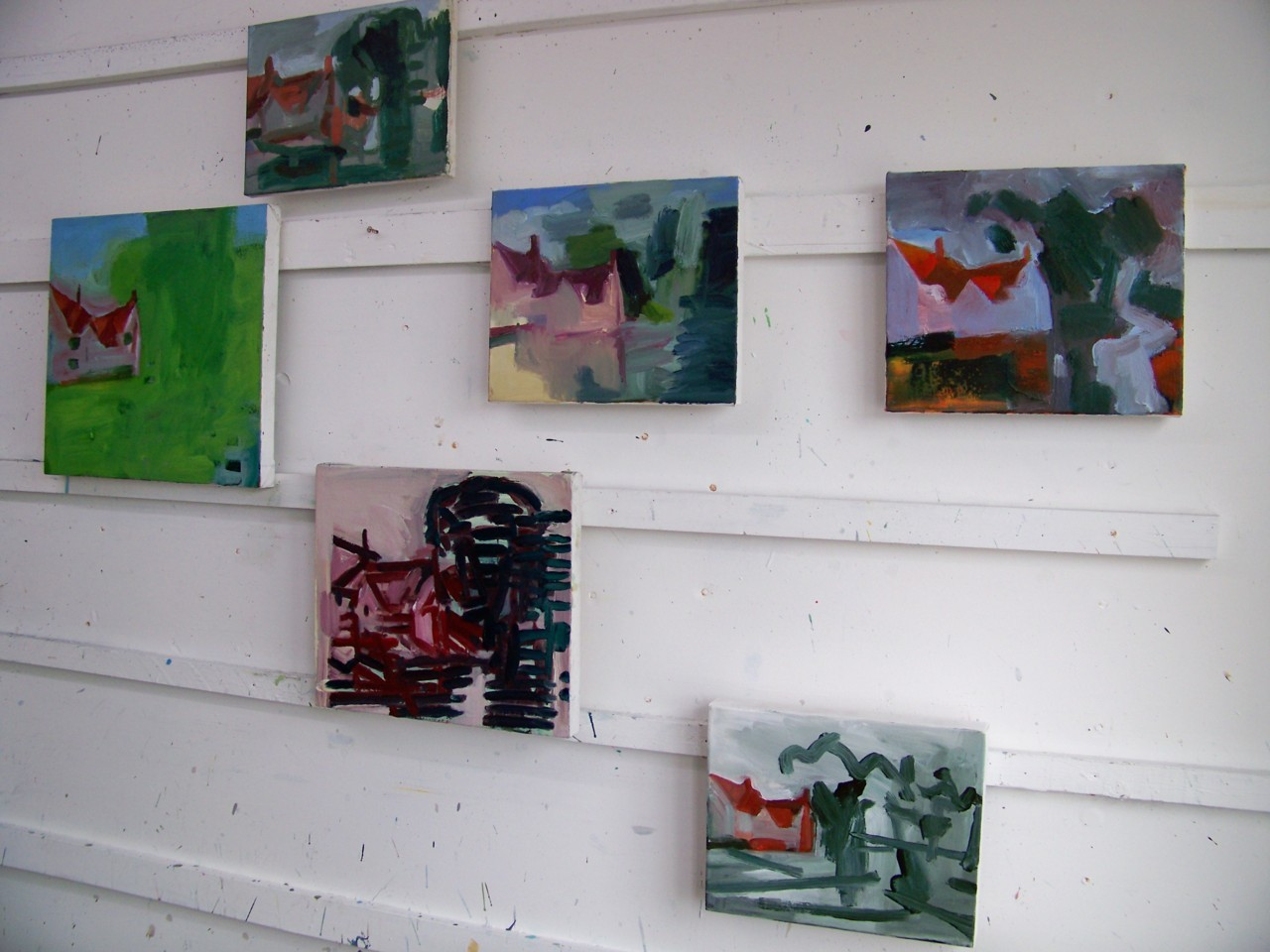 17th April 2012. I have been sorting out some small paintings based on Constable for exhibition at Flatford in the summer.