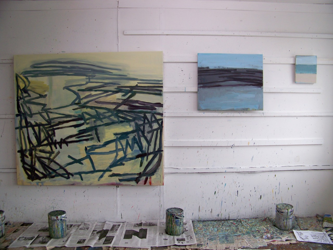 14th March 2012. The studio wall this morning.