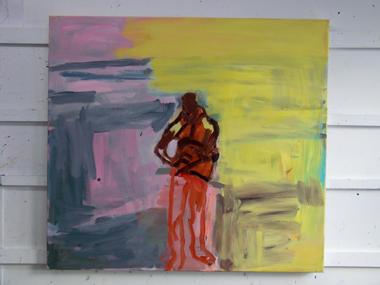 23rd January 2012. More work on this painting today. I might leave it for a while now before doing anything else.