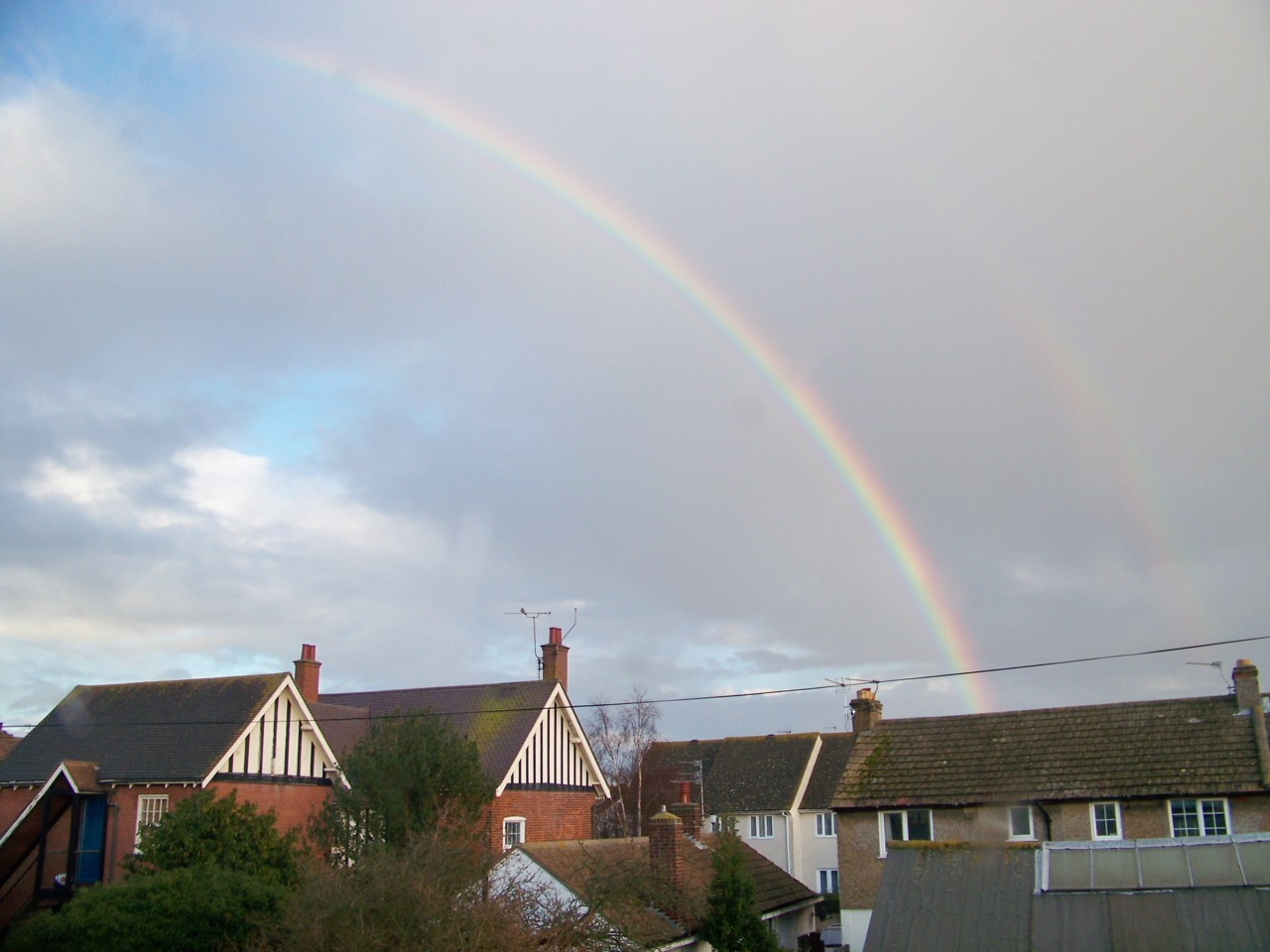 19th January 2012. Rainbow from the studio this afternoon