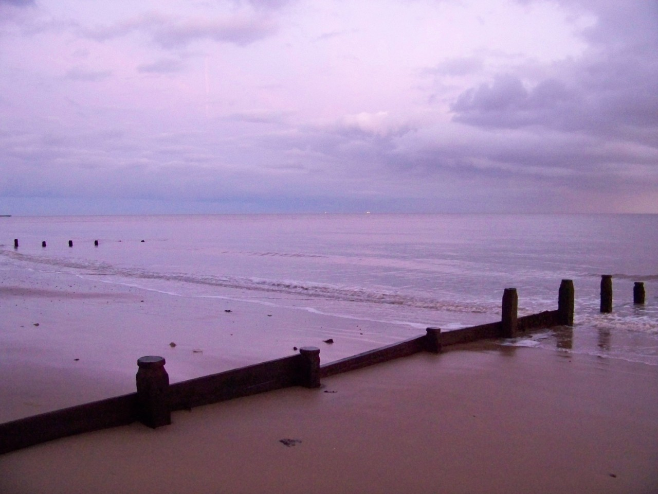 12th January 2012. On the beach this evening; making drawings for the new paintings.