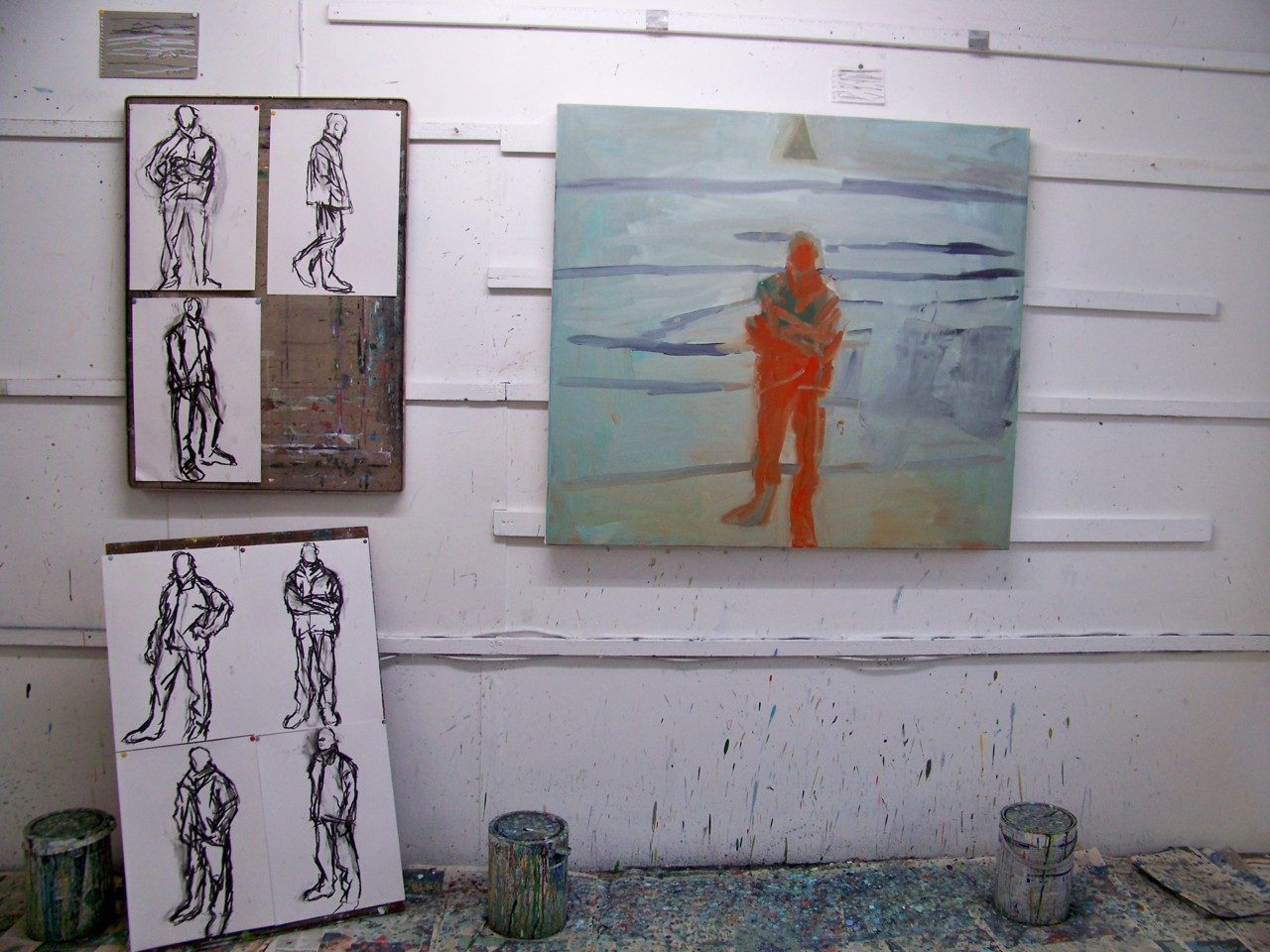 12th January 2012. Starting another new painting…with no idea where it's going to lead or what it is going to look like. I will photograph it as it progresses.