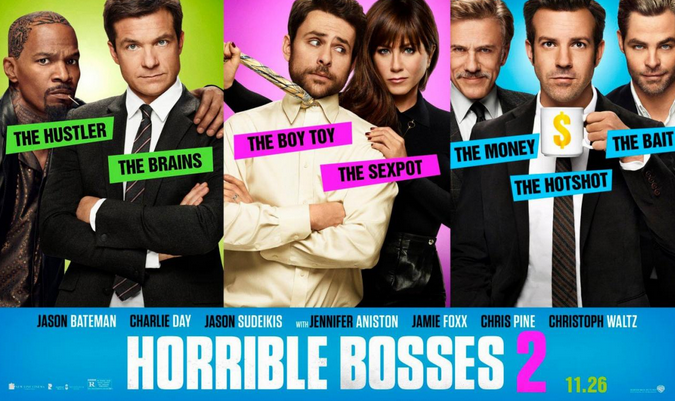 Promotional poster for Horrible Bosses 2