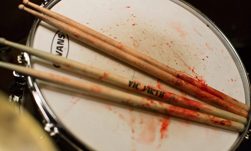Blood on the drums