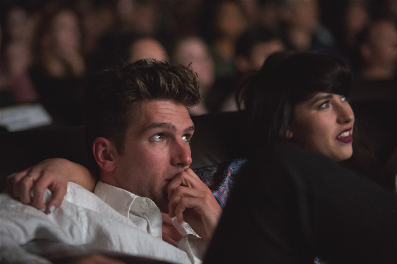 Guy and Kimbra screen their three videos.