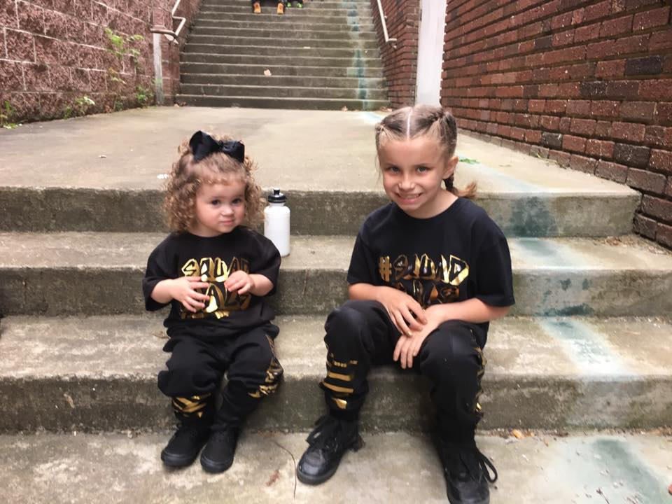 Some of our lil' dancers waiting for the showcase to begin