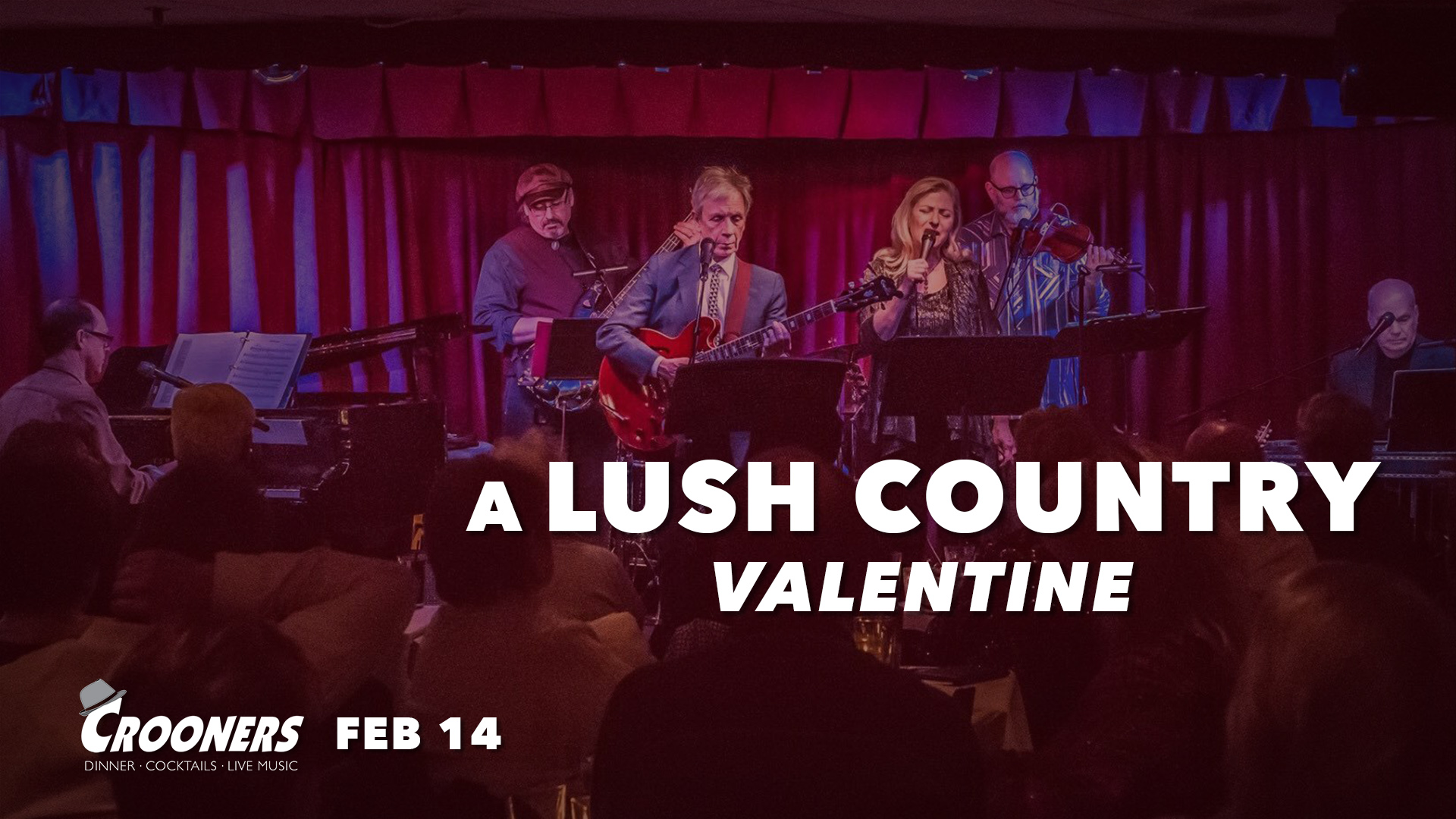 """A Lush Country Valentine - It's a Lush Country Valentine as this fine collection of """"A Prairie Home Companion"""" band alums and regulars (Prudence Johnson, Dan Chouinard, Gary Rue, Richard Kriehn, Joe Savage, Gary Raynor, and Peter Johnson) play classic country love songs of the hi-fi era, from the '40s and '60s."""