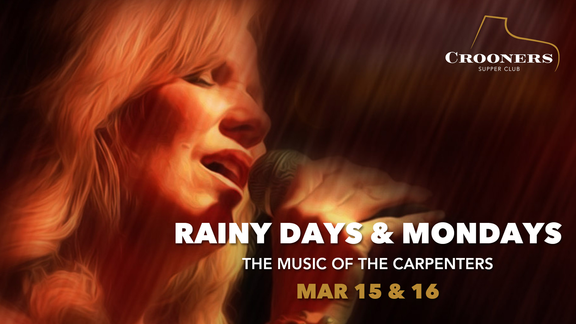 rainy days & Mondays - Aimée Lee and The Superstars moves in to the music of The Carpenters, one of the biggest selling pop groups of all time. The sibling duo of Karen and Richard were known for their soft-rock, deeply melodic songs, recorded on ten albums over 14 years, becoming both an antidote to and an emblem of the turbulent '70s. In the hands of Lee and The Superstars, who number 13, they are certainly prime for a revisit.