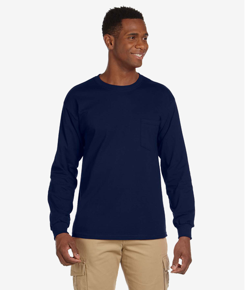 Gildan 24100 - Unisex Long Sleeve Pocket Tee