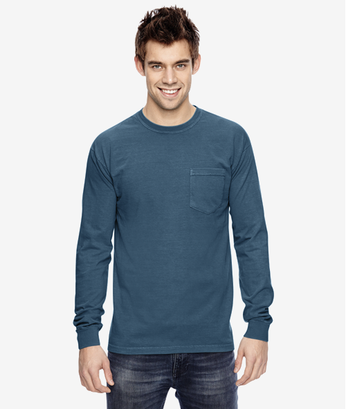 Comfort Colors C4410 - Heavyweight Long Sleeve Pocket Tee