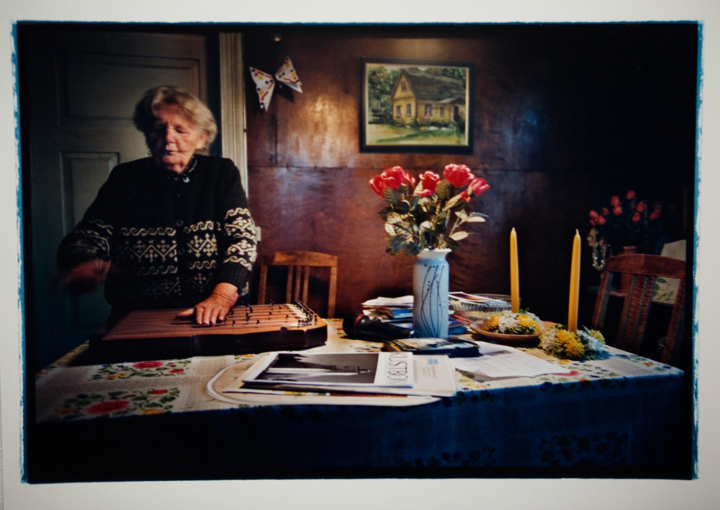 Maria Murman i sitt hem på Ormö, Estland.