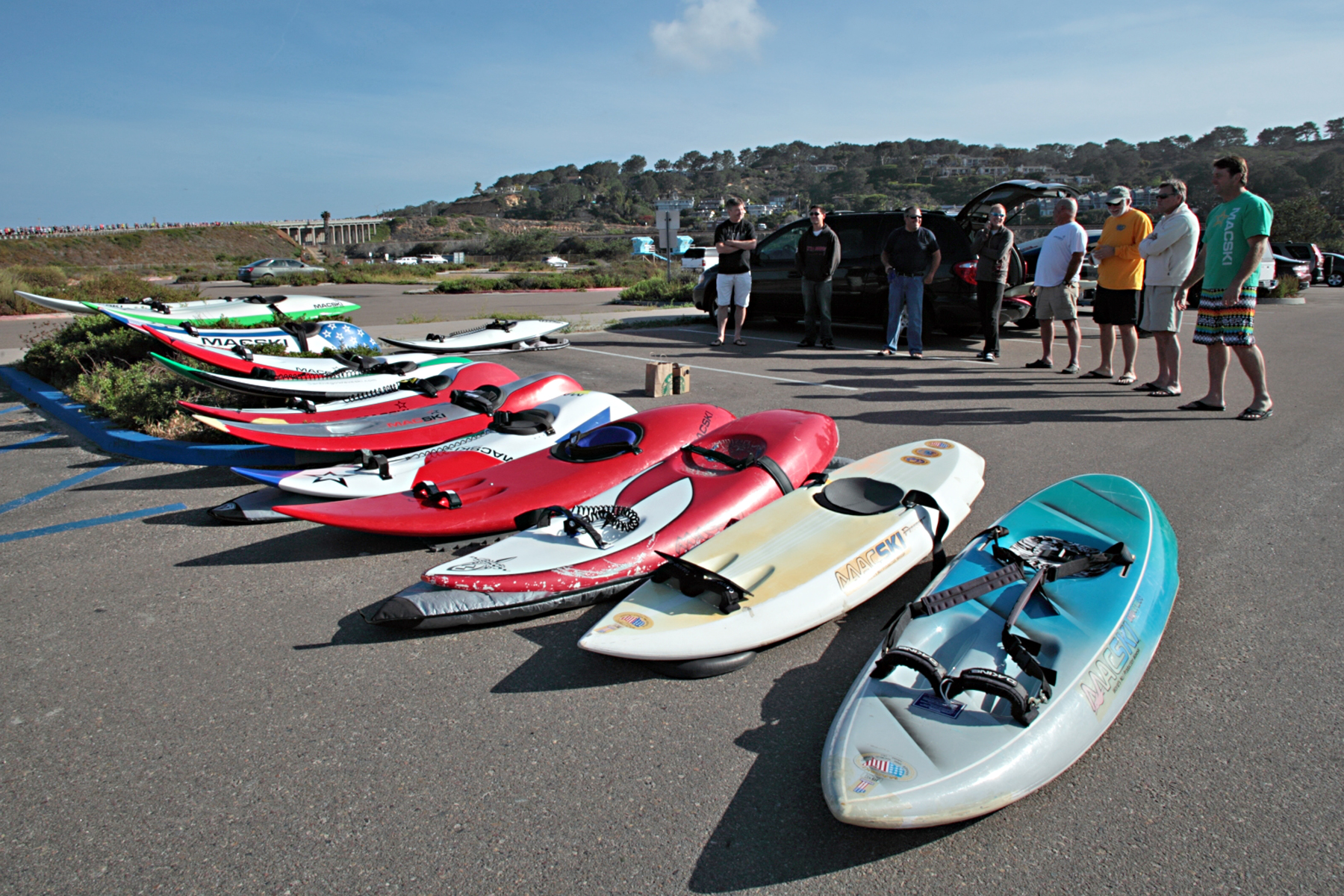 April 26th, 2015 - Macski Destroyer & Legend's launching at Torrey Pines State Park (click on pic to view the video)