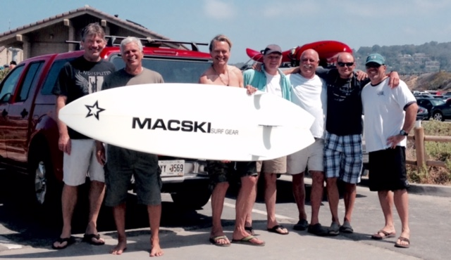 left to right: Andy, Greg, Nigel, Barry, Dick, Dom, and Kevin. Nigel was in town from Whales for a holiday and to pick up his new Mac (shown in picture). Missing from the picture (all you other losers that didn't show up! - great day. . .). Photographer - Blake (Nigel's son).
