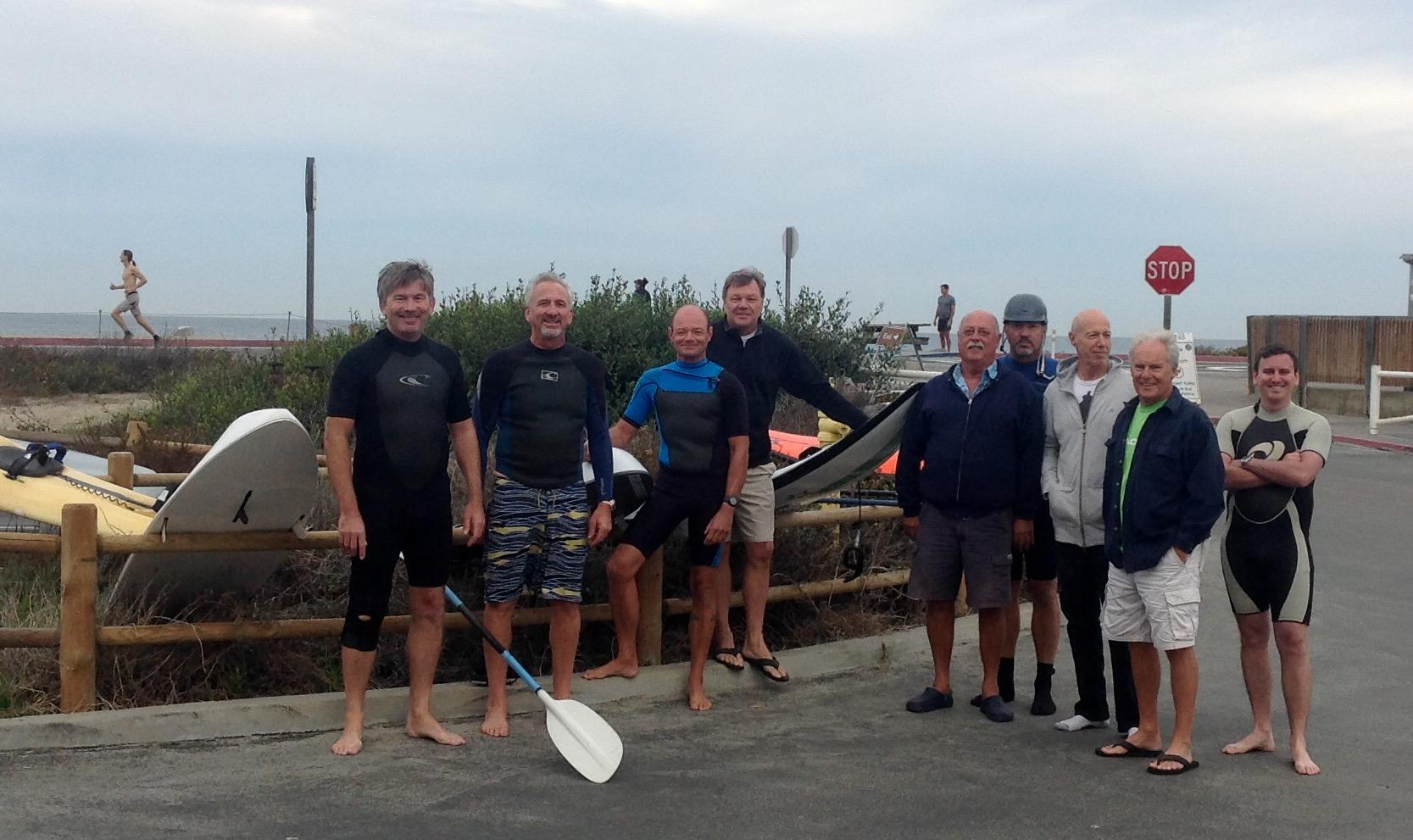 Sunday Oct.25, 2015 - Fun session at Torrey Pines with (L to R) Andy,Fred (from Florida), Dom, Barry, Dick, Paul, Fred, Don, and Max (from San Francisco)