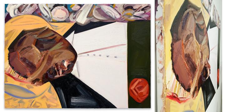 Dana Schutz  Open Casket  from the Whitney Biennial 2017 and detail.