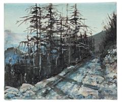 Emily Speakman's oil, 'Moel Famau Walk'.