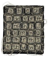 Ruth Harries' mixed media work, 'Yr Wyddor - The Alphabet'.