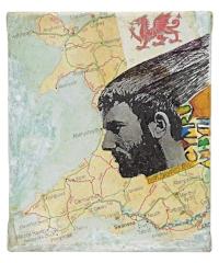 Ivor Davies' 'Cymru Am Byth' - mixed media.