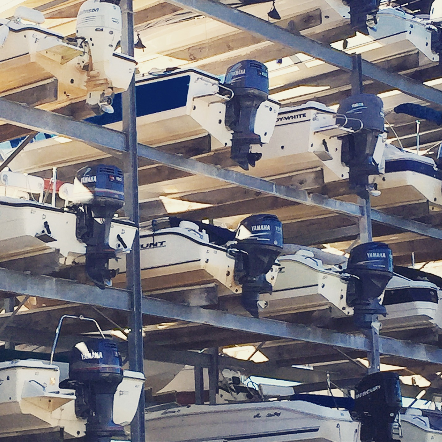 Parking lot for boats - Shem Creek, Charleston SC