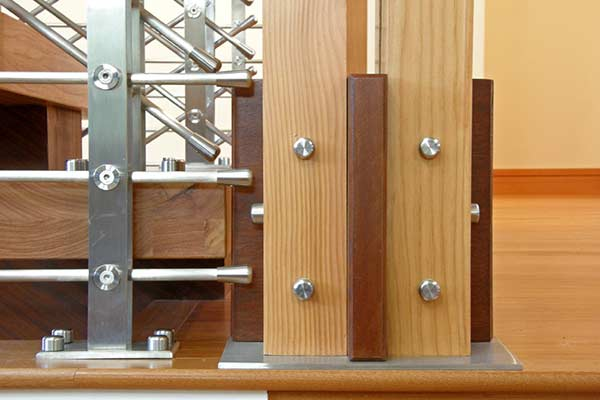 New stainless steel rod system with wood top rail