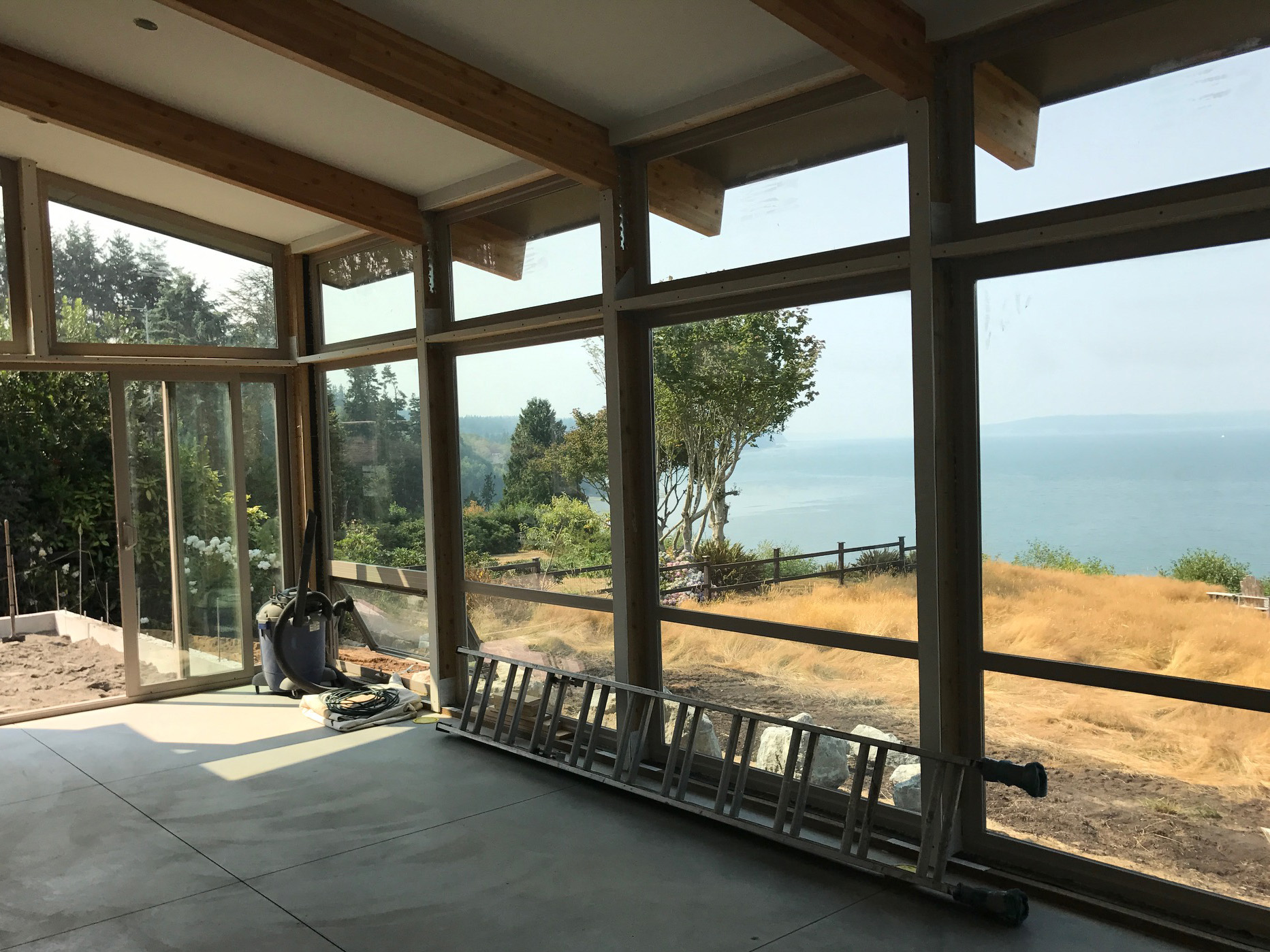 There will be no deck between this home and the view of magnificent Puget Sound...