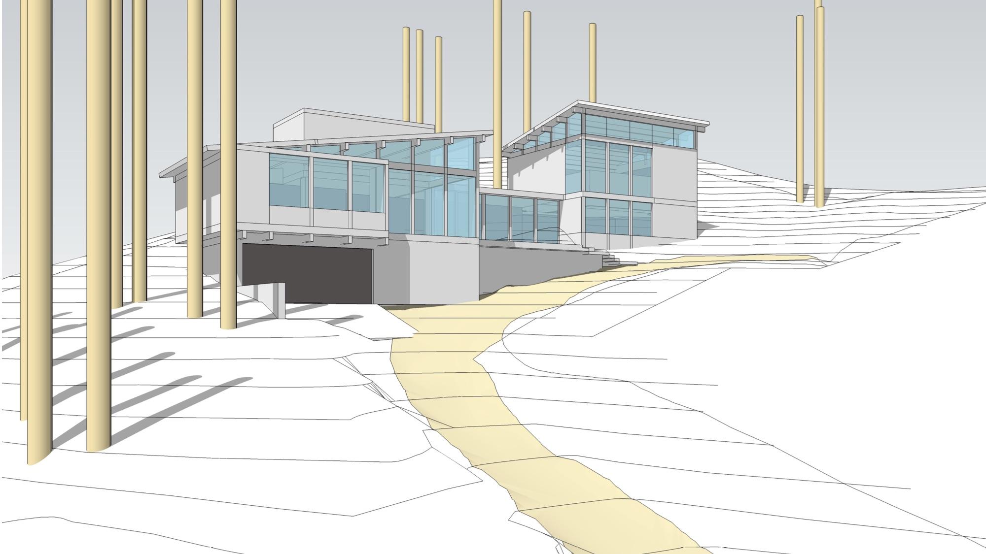3500 square foot steep slope design: Sammamish, WA