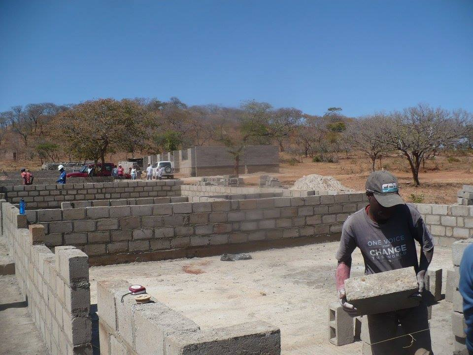 classroom block taking shape