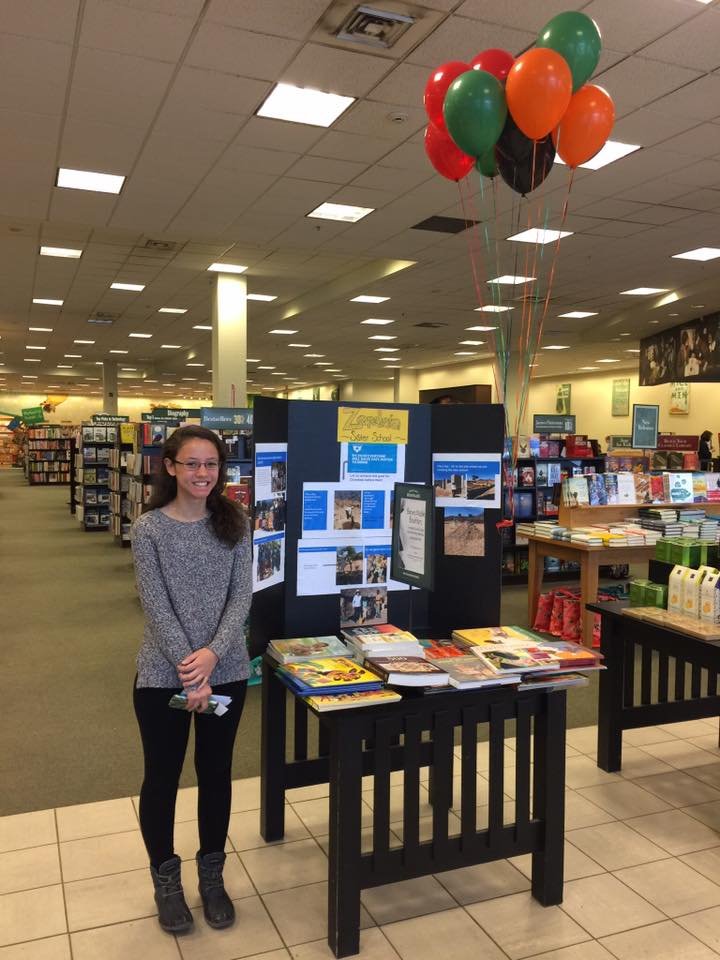 carolyn doyle with the zcei at the barnes and noble book fair