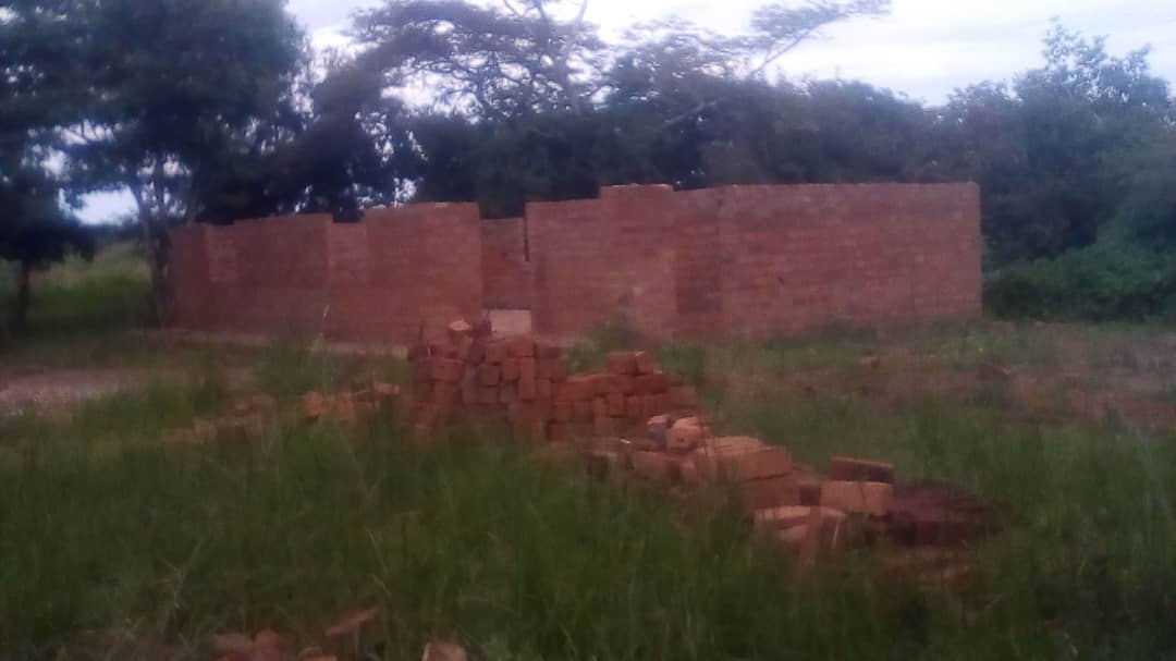 Hanamiala Library spring 2019 being built by community members