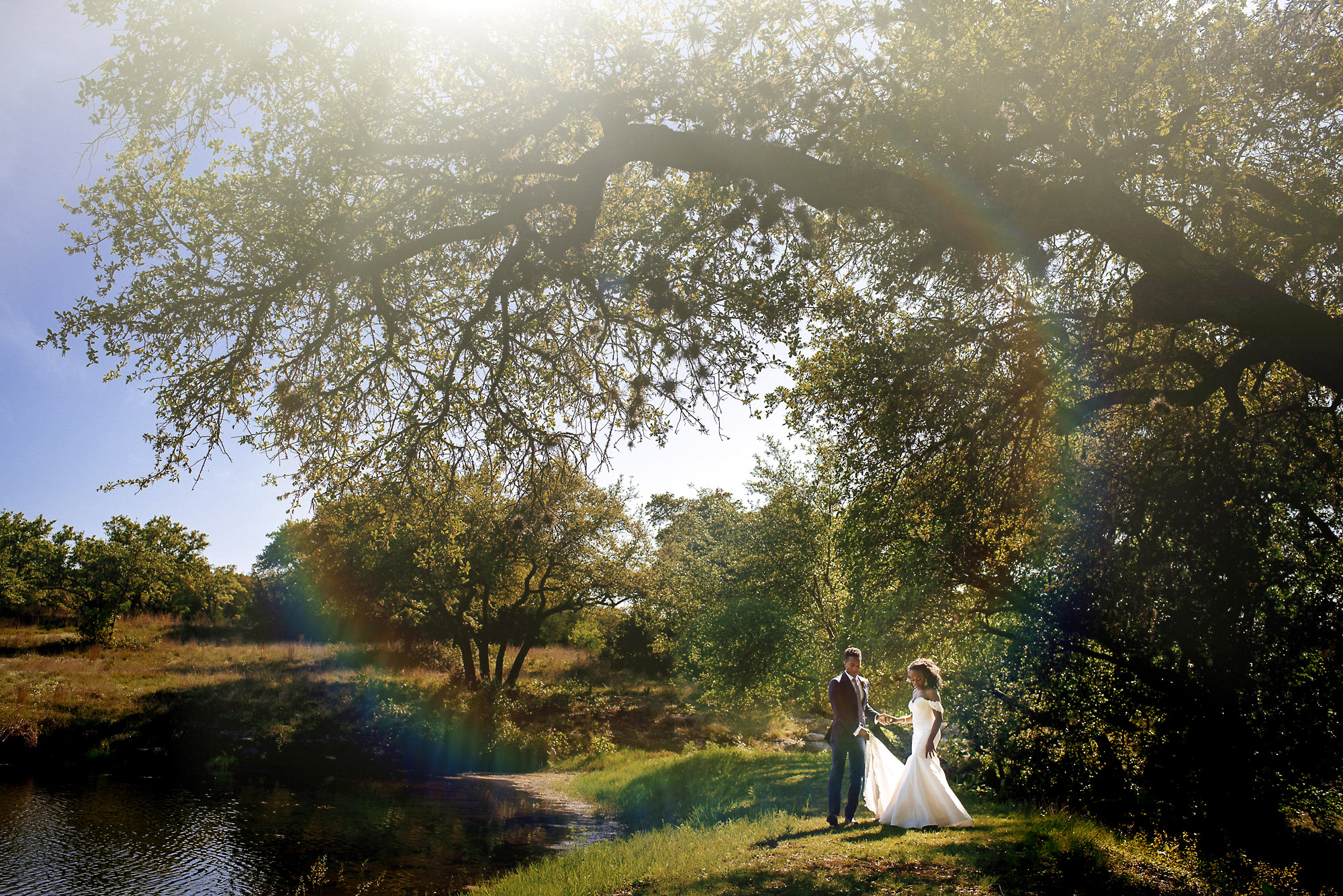 bride and groom in the park.jpg
