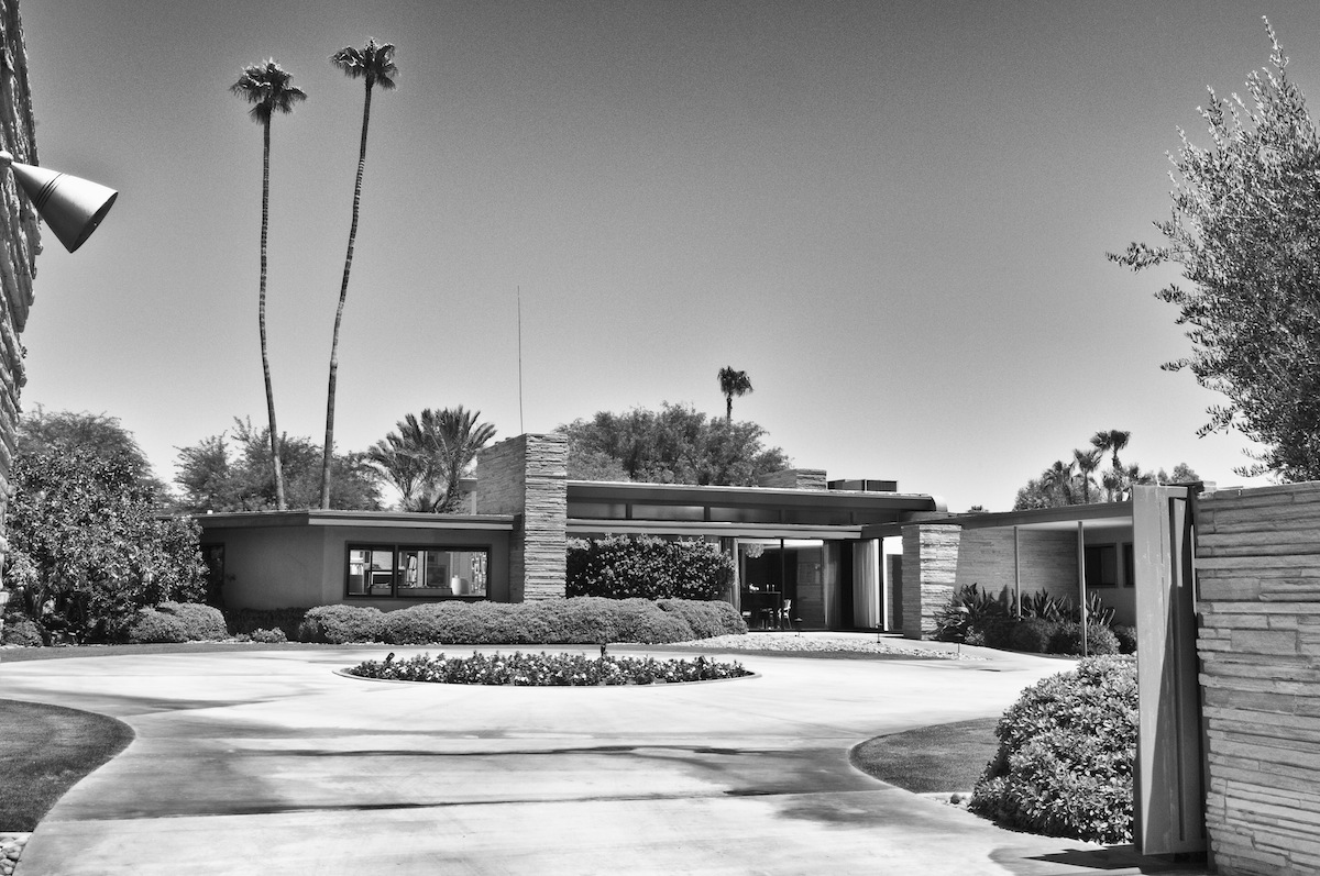Frank Sinatra's Twin Palms - built in the 1940's, designed by E. Stewart Williams