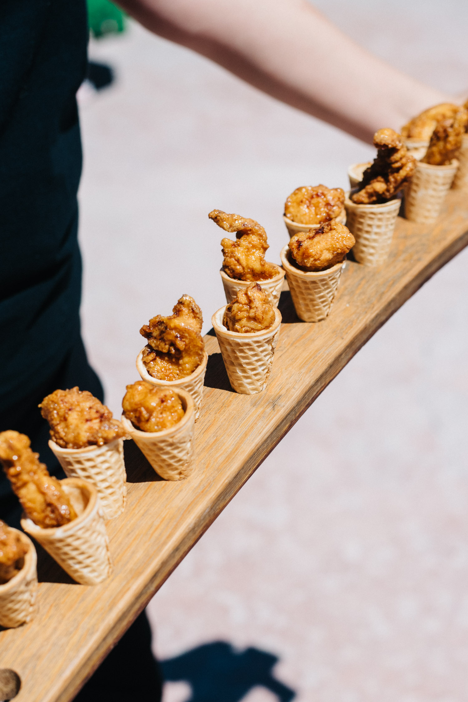 """ Chicken & Waffle Cones "" -  F10 Catering  image credit:  Sarah Dickenson"