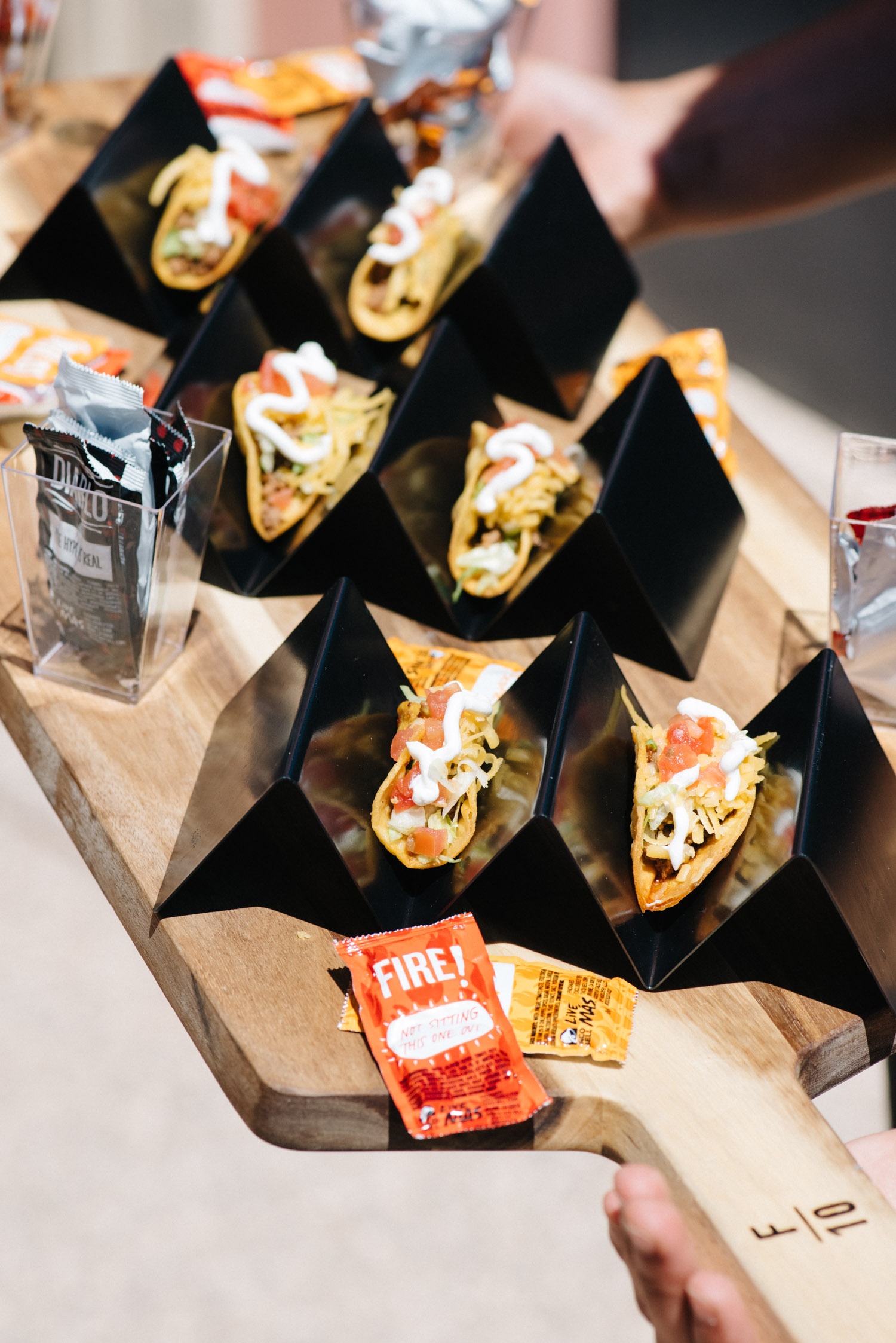 """TacoBell Tacos"" -  F10 Catering  image credit:  Sarah Dickenson"