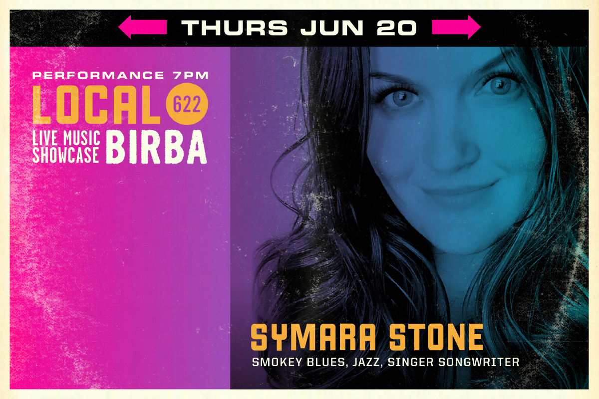 6/20 -  Symara Stone  (Smokey Blues, Jazz, Singer Songwriter)  Born in Sunny Palm Springs California, singer/songwriter Symara Stone was a born a performer! Known for her incessant humor, deep direct raw lyrics, & jazzy motown bluesy croon this girl has been taking the stage since she was a youngster. Her passion for writing songs fueled with her life experience has created an ongoing self-taught creative process that she can't stop. Writing a song per day is common in the Stone residence. Symara loves people, animals, music, art, dance, self-expression of all forms, & yoga! Her songs deal with death, love, heartbreak, nature, sobriety, & addiction. She is said to channel all the bad & good she feels into song, and uses songwriting as a way to heal herself with sound. Open to all genres, Symara's songs never are catapulted into one box. When a country song appears in her heart, a country song she will write. Electronica, Downtempo, Ambient, Indie, Indie pop, Rock, Blues, Jazz, Techno, Dub-step, Tribal, Folk, Mantras, Gospel, Ska, Dixie, Reggae, Funk, Motown, & Soul are just some genres that leap into her fingers when plucking her Ibanez Acoustic Electric Guitar. Piecing together the melody and lyric in her head, her songs come to life and even more so when she's on stage singing in front of you with her big smile & big soul.  Look and listen:   https://www.facebook.com/SymaraStone/    www.soundcloud.com/symarastone