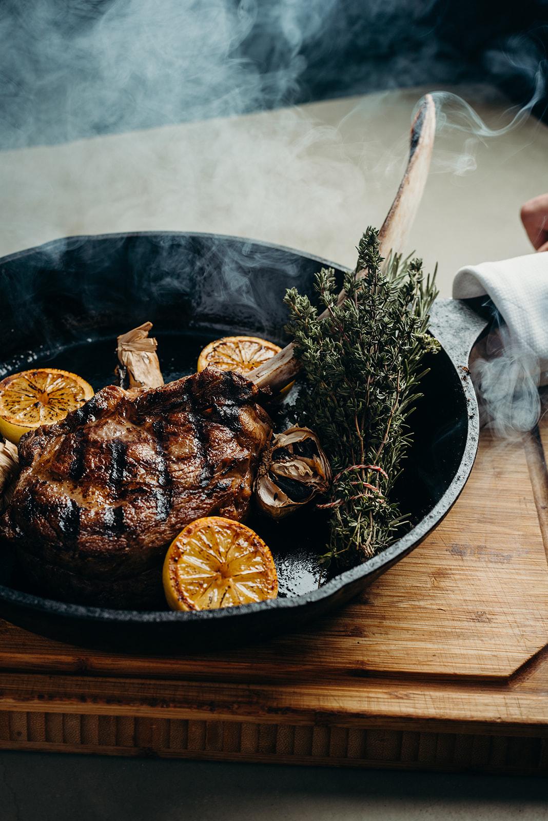 Tomahawk Steak at  Mr. Lyon's  image credit:  Sarah Dickenson