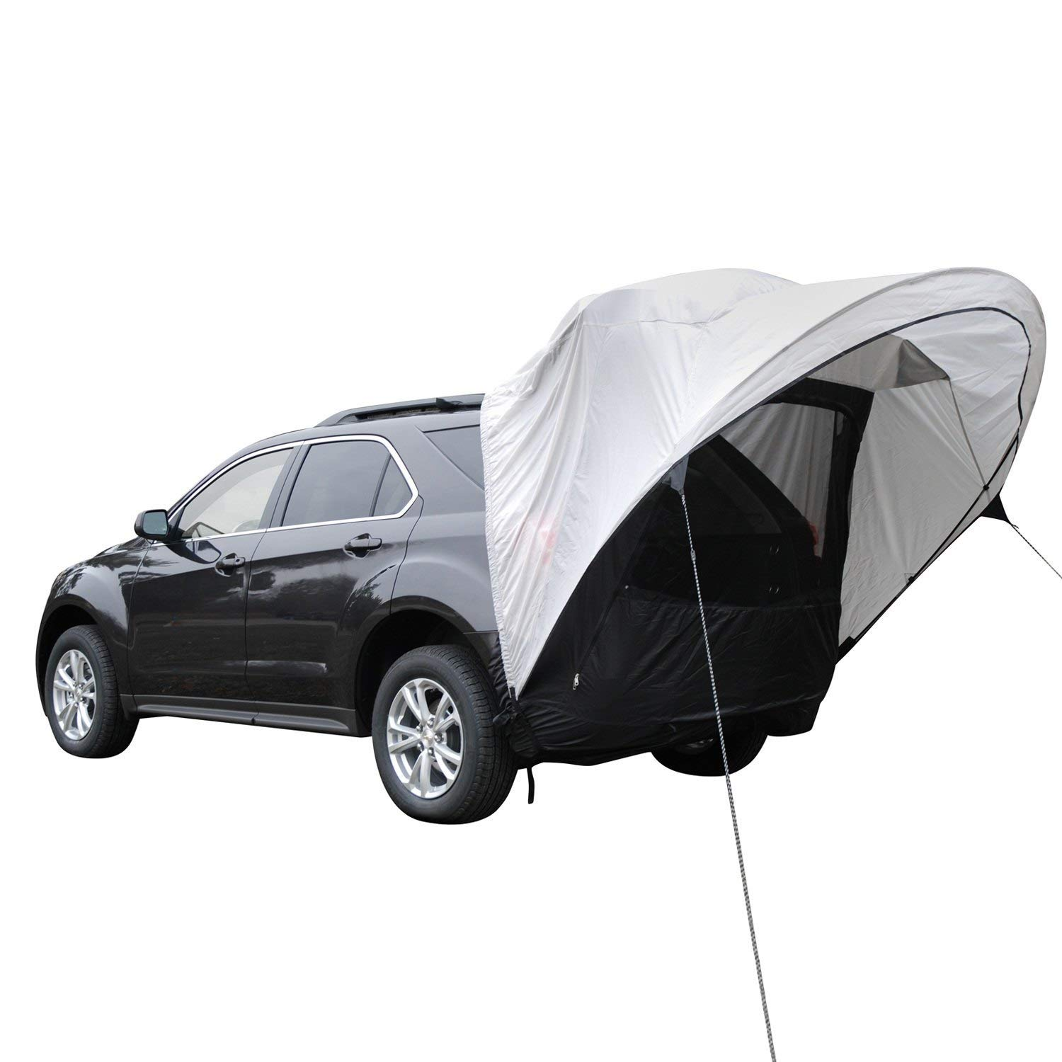 1. Napier Sportz Cove SUV Tent - If you already have a regular tent, then investing in a car awning could be your next best bet. But we love the flexibility and comfort that car tents offer. We chose the Napier Sportz Cove ($140) because it has great reviews, is super functional and fits most SUV's (check the list for full compatibility) and it's moderately priced!