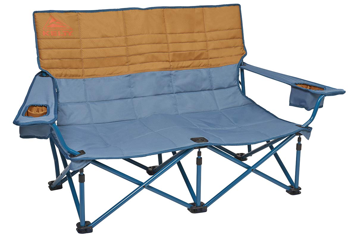 11. Kelty Dual Camp Chair - Perfect for stretching out and cozying up fireside. The two person Kelty Loveseat ($75) sits in a slightly reclined positioning making it extremely comfortable, not to mention durable.